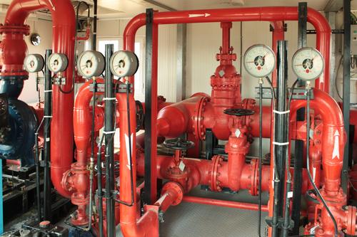 Fire pump.